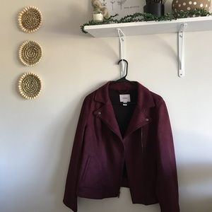 burgundy cute blazer jacket